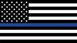 Police Blue American Flag